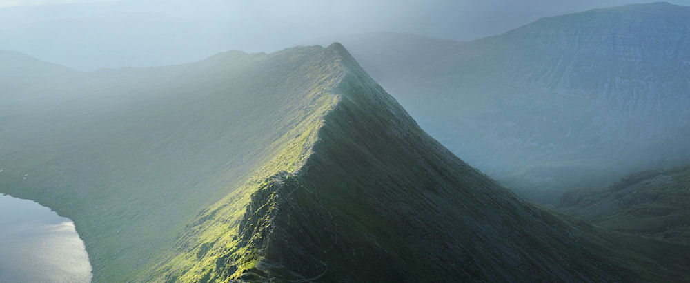 Striding Edge Helvellyn lake District  by Steven Townsend Gallery 42 Accrington (1)